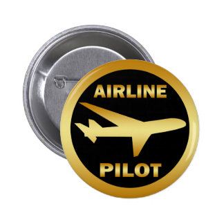 AIRLINE PILOT PINBACK BUTTON