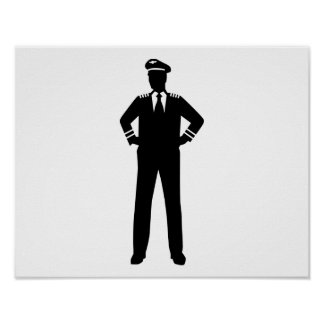 Airline pilot poster
