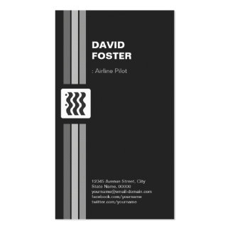 Airline Pilot - Premium Modern Double-Sided Standard Business Cards (Pack Of 100)