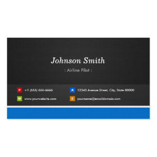 Airline Pilot Professional Customizable Double-Sided Standard Business Cards (Pack Of 100)