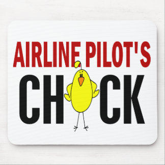 Airline Pilot's Chick Mouse Pad