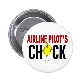 Airline Pilot's Chick Pinback Button