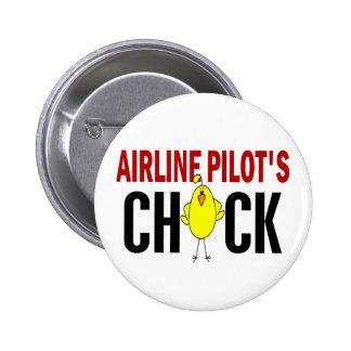 Airline Pilot's Chick Pinback Button
