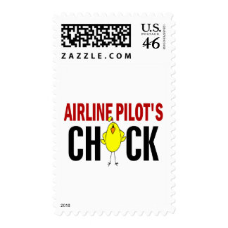 Airline Pilot's Chick Postage Stamps