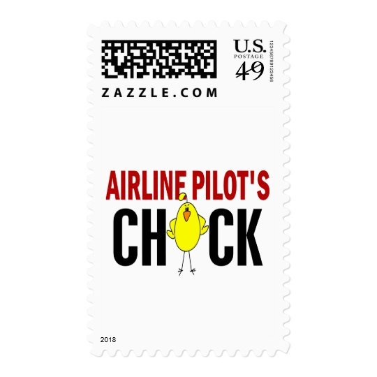 Airline Pilot's Chick Postage