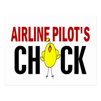 Airline Pilot's Chick Post Card