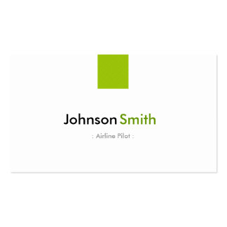Airline Pilot - Simple Mint Green Double-Sided Standard Business Cards (Pack Of 100)
