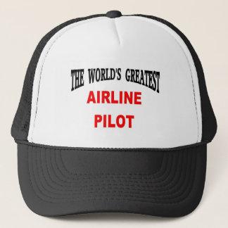 Airline pilot trucker hat