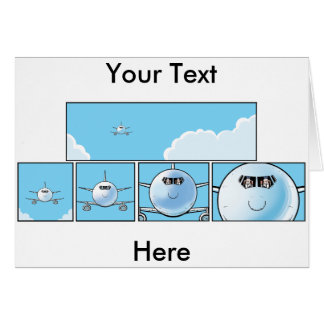 Airline Pilots Cartoon Greeting Card