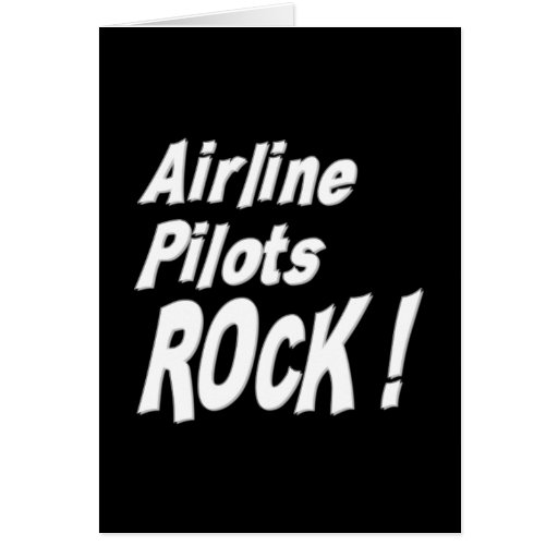 Airline Pilots Rock! Greeting Card