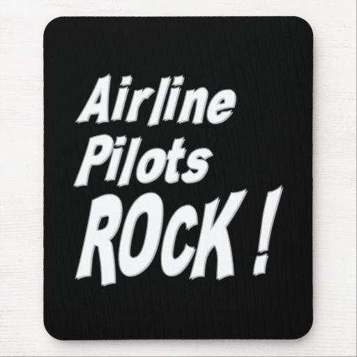 Airline Pilots Rock! Mousepad