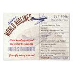 Airline Ticket Destination Party Invitation