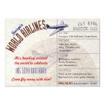 Airline Ticket Party Invite Multi Dates - CUSTOM