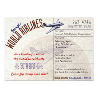 Airline Ticket Party Invite Multi Dates - CUSTOM