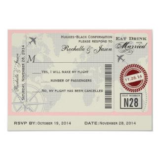 Airline Ticket Wedding RSVP Card