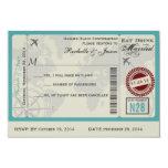Airline Ticket Wedding RSVP 3.5x5 Paper Invitation Card