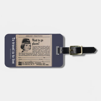 Airline Travel Airline Crewmember Recruitment Ad Bag Tag