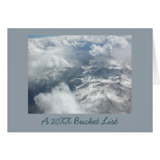 Airline Travel Photo New Year Bucket List Card