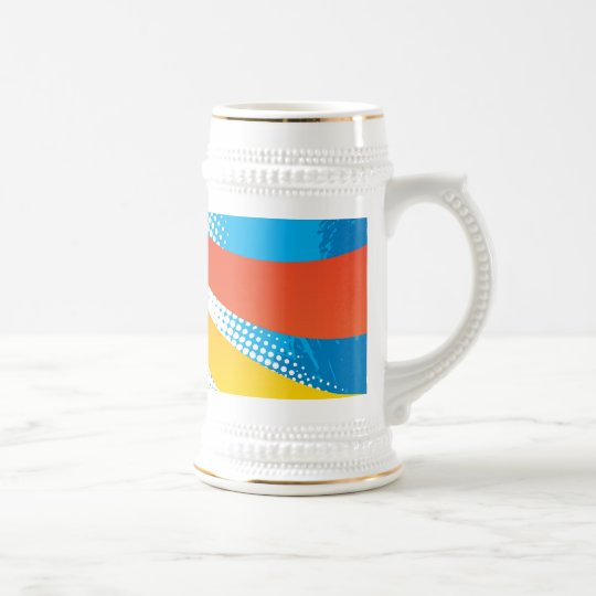 Airline Vacation Travel Abstract Halftone Beer Stein