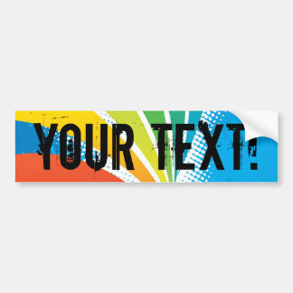 Airline Vacation Travel Abstract Halftone Bumper Sticker