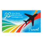 Airline Vacation Travel Abstract Halftone Double-Sided Standard Business Cards (Pack Of 100)