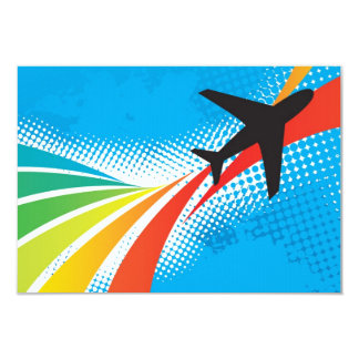 Airline Vacation Travel Abstract Halftone Card