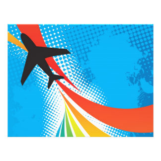 Airline Vacation Travel Abstract Halftone Flyer