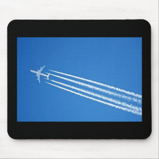 AIRLINER 4-ENGINE CONTRAILS MOUSE PAD