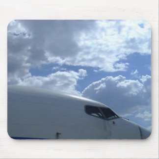 Airliner-cockpit-with-clouds-in-background Mouse Pad