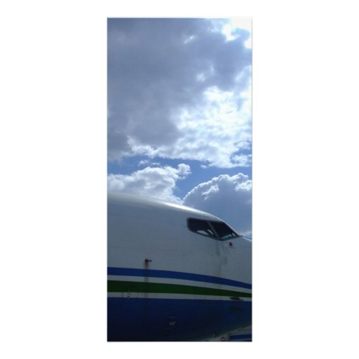 Airliner-cockpit-with-clouds-in-background Personalized Rack Card