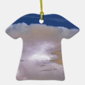 Airliner Lightning Strikes.jpg Double-Sided T-Shirt Ceramic Christmas Ornament
