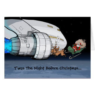Airliner Santa Greeting Card