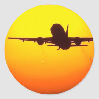 AIRLINER SUN CLASSIC ROUND STICKER