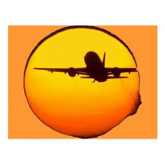 AIRLINER SUN POSTCARD