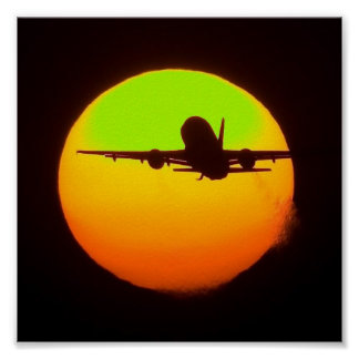 airliner sun poster