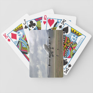 airliner take-off bicycle playing cards