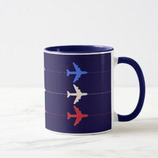 airlines airplanes mug