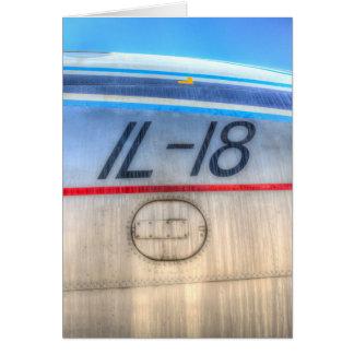 Airlines Ilyushin IL-18 Card