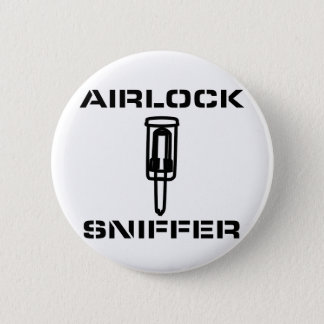 Airlock Sniffer Pinback Button