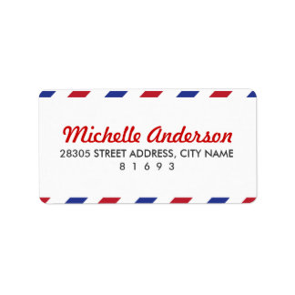 Airmail Address Labels