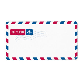 Airmail Address Mailing | DELIVER TO: Label