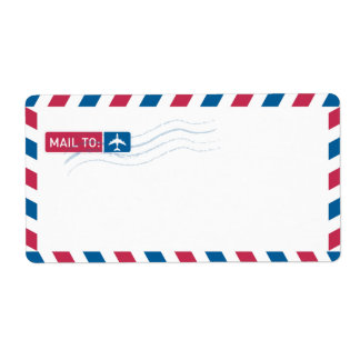 Airmail Address Mailing | MAIL TO: Shipping Label