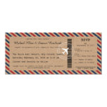 Airmail Boarding Pass Wedding Invitation and RSVP