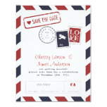 Airmail Card Save the Date Custom Announcements