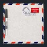 "airmail envelope dry erase board<br><div class=""desc"">by brad millward</div>"