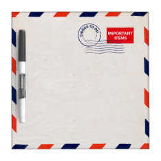 airmail envelope dry erase board at Zazzle
