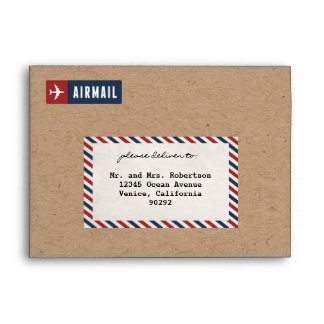 Airmail Envelope Kraft Paper A7