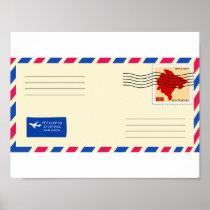 Airmail Envelope Poster