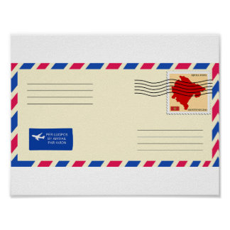 Airmail Envelope Poster