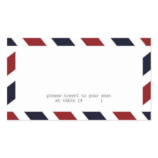 Airmail Escort Card
